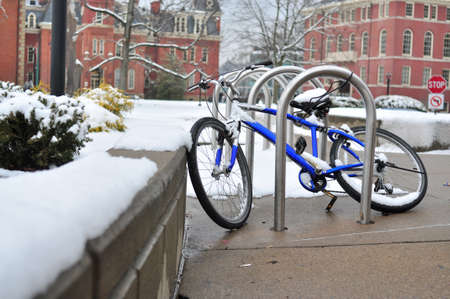Bike in snow photo