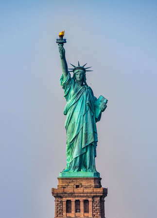 Front view of the Statue of Liberty in New York City  Stock Photo