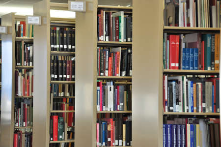 reading material: library setting with books and reading material
