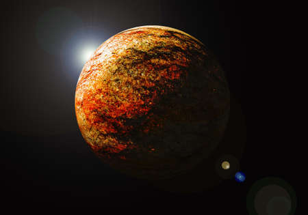 red planet with sun rising Stock Photo - 18319524