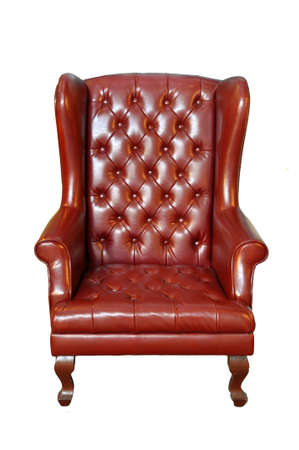 leather chair isolated on white background  photo