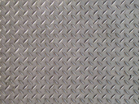 junk yard: Seamless steel diamond plate texture  Stock Photo