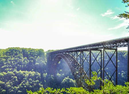 longest: Longest Suspension bridge in the united states new river gorge bridge west virginia Stock Photo
