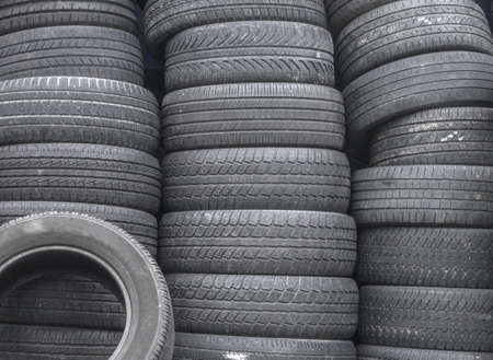 Tire stack background Stock Photo - 18880066