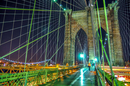 The Brooklyn bridge, New York City  USA photo
