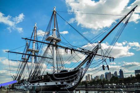 The U S S  Constitution In Boston Harbor