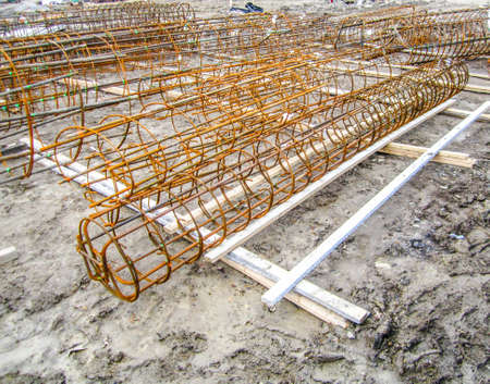 roofing membrane: Building   Construction Site Stock Photo