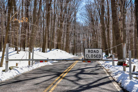 road closed:  Road Closed Due to Large and Dangerous Snowfields.