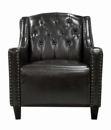 black leather chair isolated on white  photo