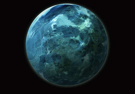 blue planet isolated on space Stock Photo