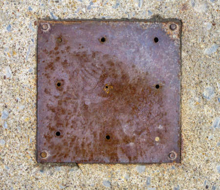 Old rusty metal plate Stock Photo - 19202026
