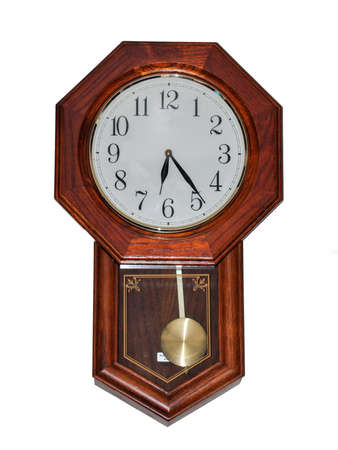 Old wall clock  Stockfoto