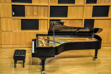 Concert grand piano Stock Photo