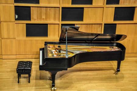 music hall: Concert grand piano Stock Photo