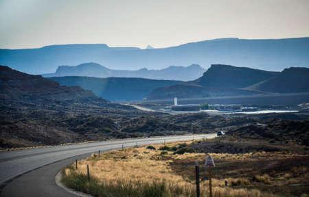 높은 산악 도로