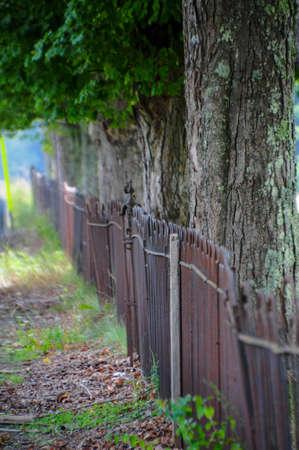 검은 페인트 철 울타리