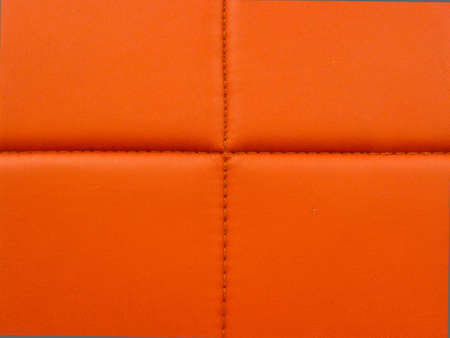 button tufted: Orange Leather Background  Stock Photo