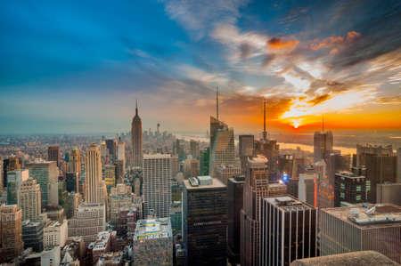 skyline nyc: Paisaje urbano de Nueva York Foto de archivo