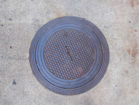 sewer cover Stock Photo