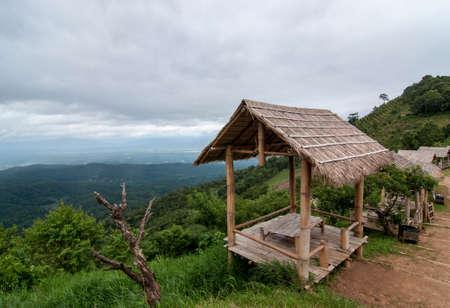 a little hut in the jungle ,  Stock Photo