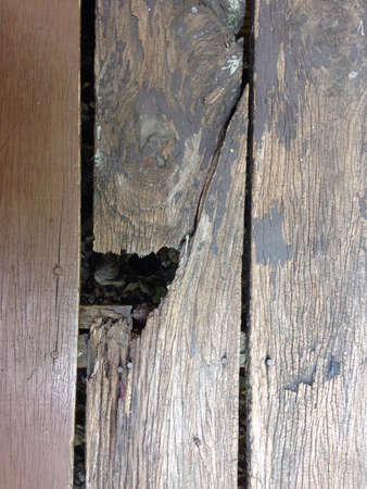 A hole on the wooden floor  Stock Photo