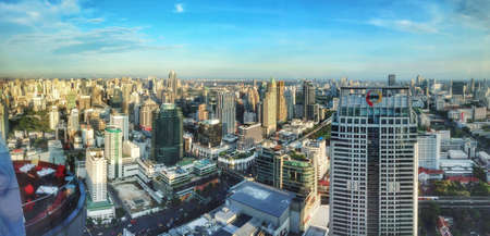 Panorama of Bangkok city