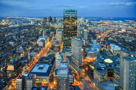ボストン市のスカイライン 写真素材