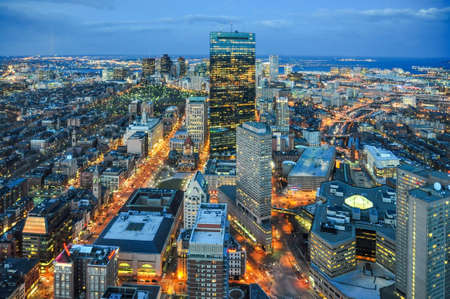 boston skyline: Boston city skyline