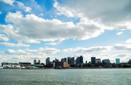 바다에서 보스턴 시내 전망 스톡 콘텐츠 - 28307162