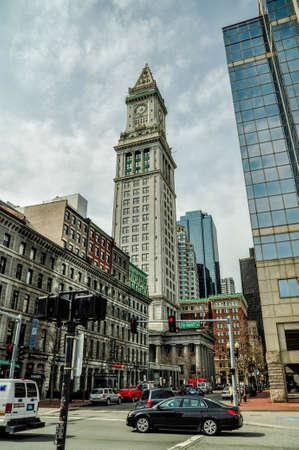 The custom house tower, Boston