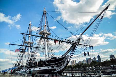 Uss Constitution Battleship in Boston Stock Photo
