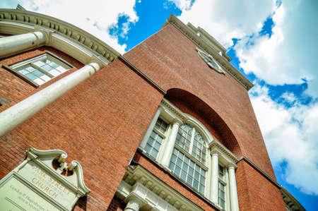 보스턴의 파크 스트리트 교회 스톡 콘텐츠