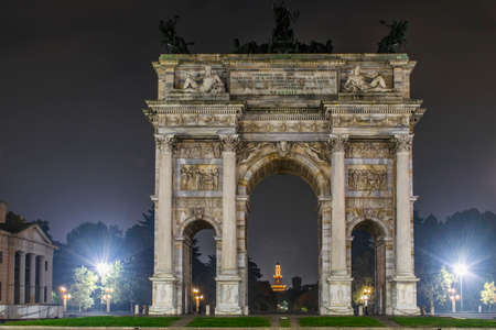 pace: Arco della Pace and Castello Sforzesco on background