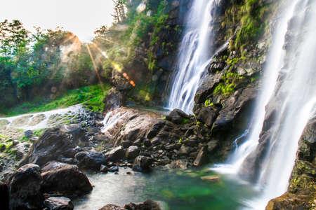 Waterfall Acquafraggia (also Acqua Fraggia) in province of Sondrio in Lombardy, north Italy.