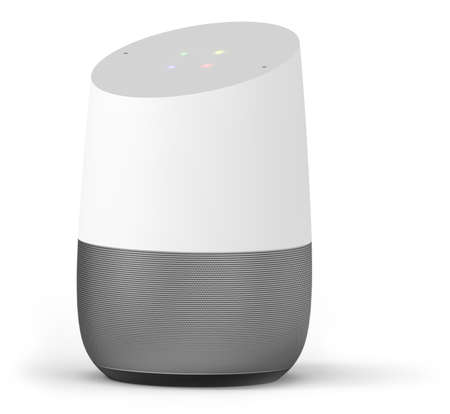 Smart hub home assistant isolated on white