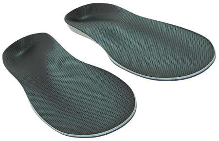 Orthotics - custom made shoe inserts isolated on white