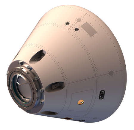 Space capsule isolated on white Stock Photo