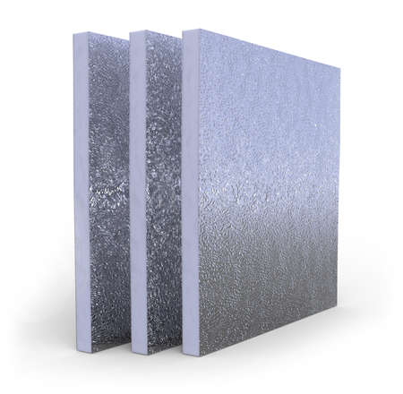 Thermal insulation panel isolated on white