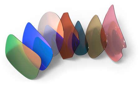 Eyeglasses lenses isolated on white