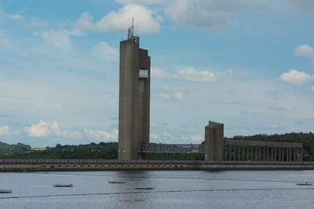 Le barrage de la Plate Taille - Hydro-electric power station. Namur province, Belgium