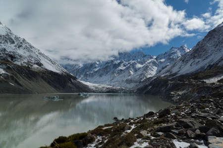 Mountain landscape with lake, New Zealand
