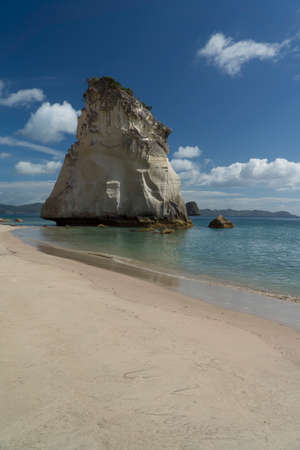 Cathedral Cove beach. Coromandel Peninsula Stock Photo