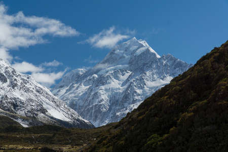 Mount Cook. South Island. Southern Alps. New Zealand Stock Photo