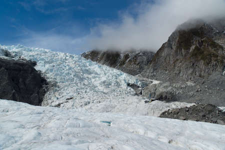 Franz Josef Glacier in New Zealand, South Island. Stock Photo