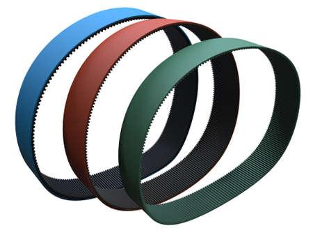 Transmission rubber belts, ribbed