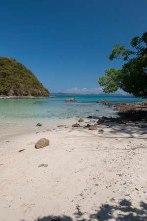 Beach on island near Port Barton, Palawan, Philippines