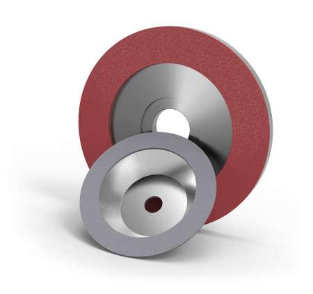 Diamond abrasive wheels Banque d'images