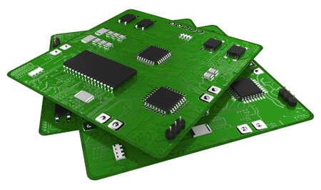 Printed circuit boards populated with some components