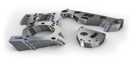 Piezas de metal perforadas Foto de archivo