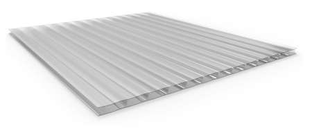 Polycarbonate corrugated sandwich panel Stock Photo
